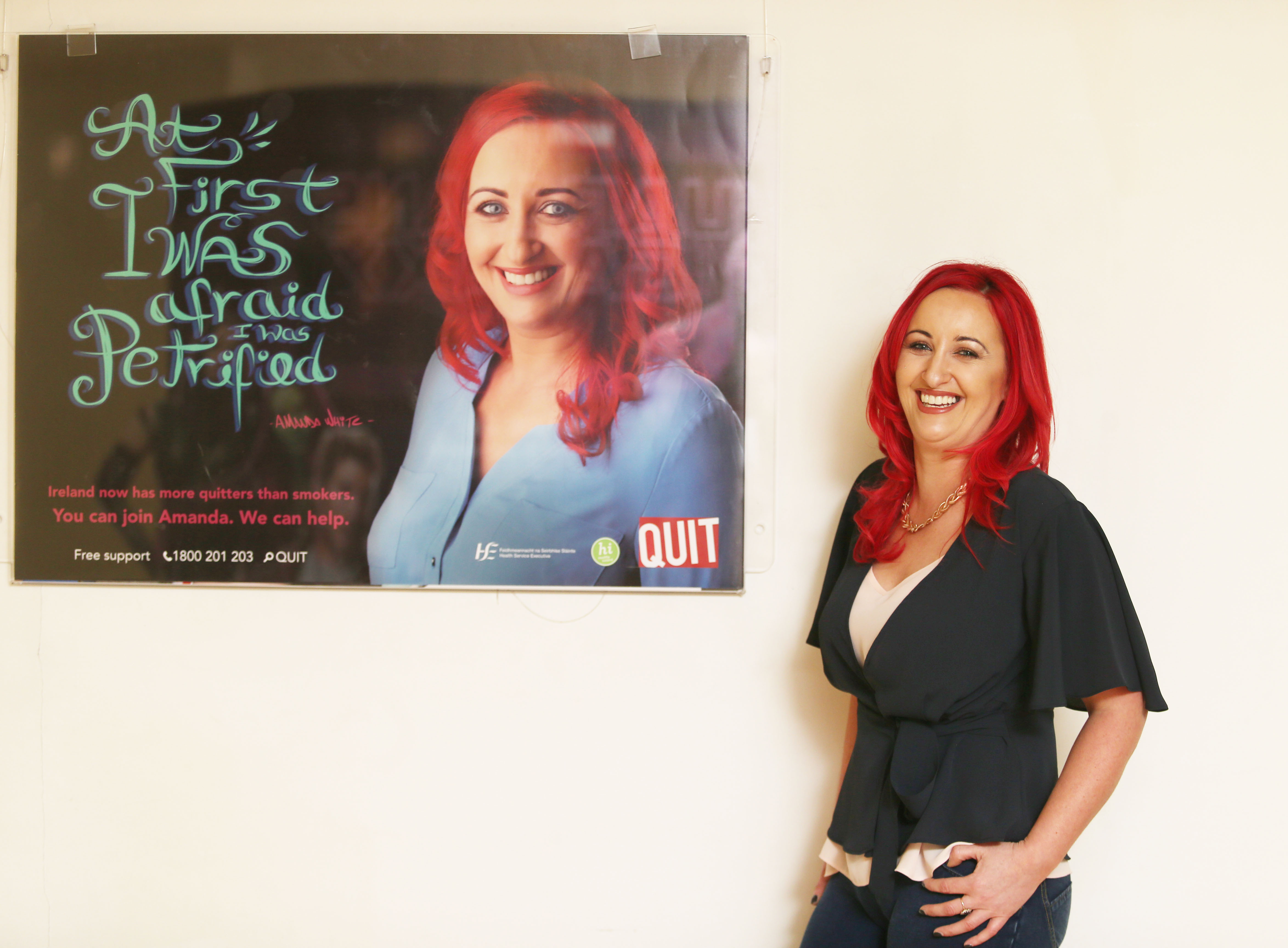 Amanda White from Nenagh, Co Tipperary, features in the new HSE QUIT campaign that uses real-life stories to encourage smokers to quit for good with help and support from QUIT.